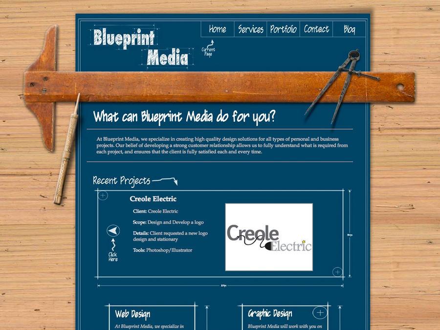 Blueprint Media Website By Jaychuck On Deviantart