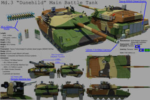 Pamerian Main Battle Tank: 'Dunehild' by EumenesOfCardia