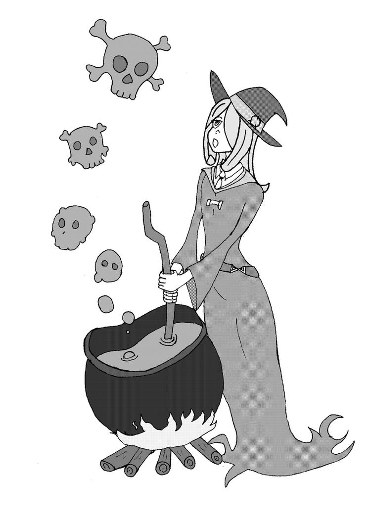 Sucy Manbavaran  fan-art by magic-shield-manga