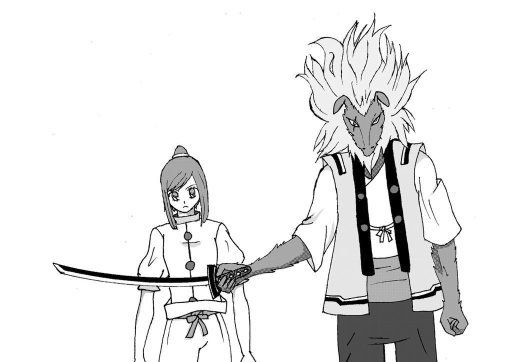 kiromaru and saki by magic-shield-manga