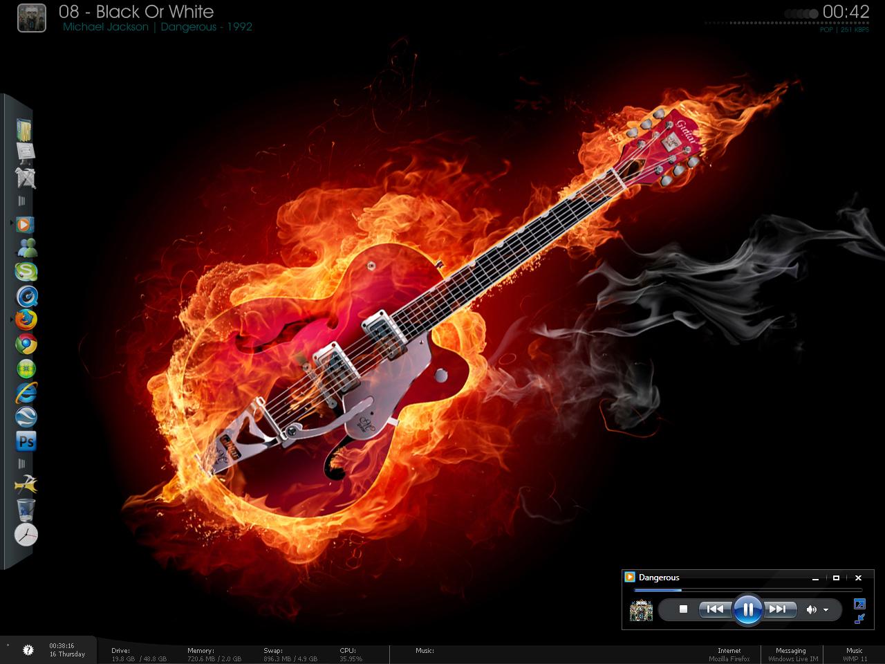 Flaming Guitars Digital Art Hd Wallpaper: Pin Flaming Guitar Fire 1680x1050 Hd Wallpaper Jootix