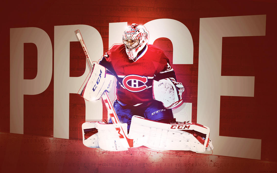Must see Wallpaper Logo Montreal Canadiens - carey_price_wallpaper___montreal_canadiens_by_motzaburger-d7h64yy  Collection_216772.jpg