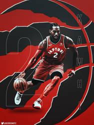 Kawhi Leonard Toronto Raptor Poster/Wallpaper by motzaburger