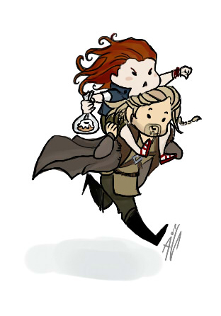 Ulfric Stormcloak and a sweet roll by Sovych