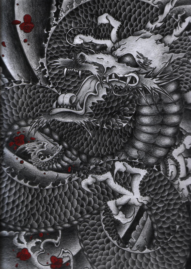 Japanese dragon by shane0205 for Japanese dragon painting