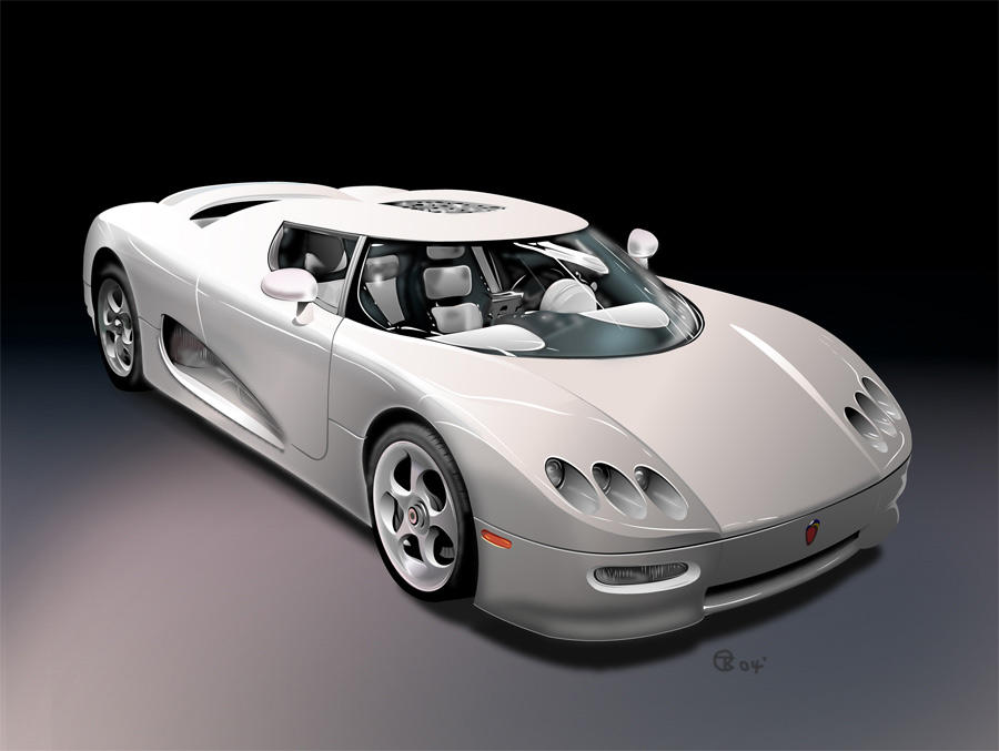koenigsegg car vector