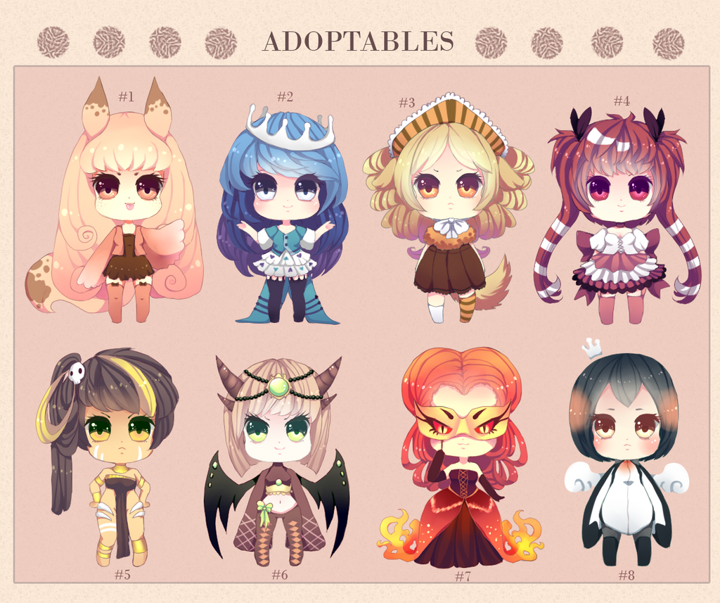 Look, Another Adoptable Set [CLOSED] by Andreia-Chan