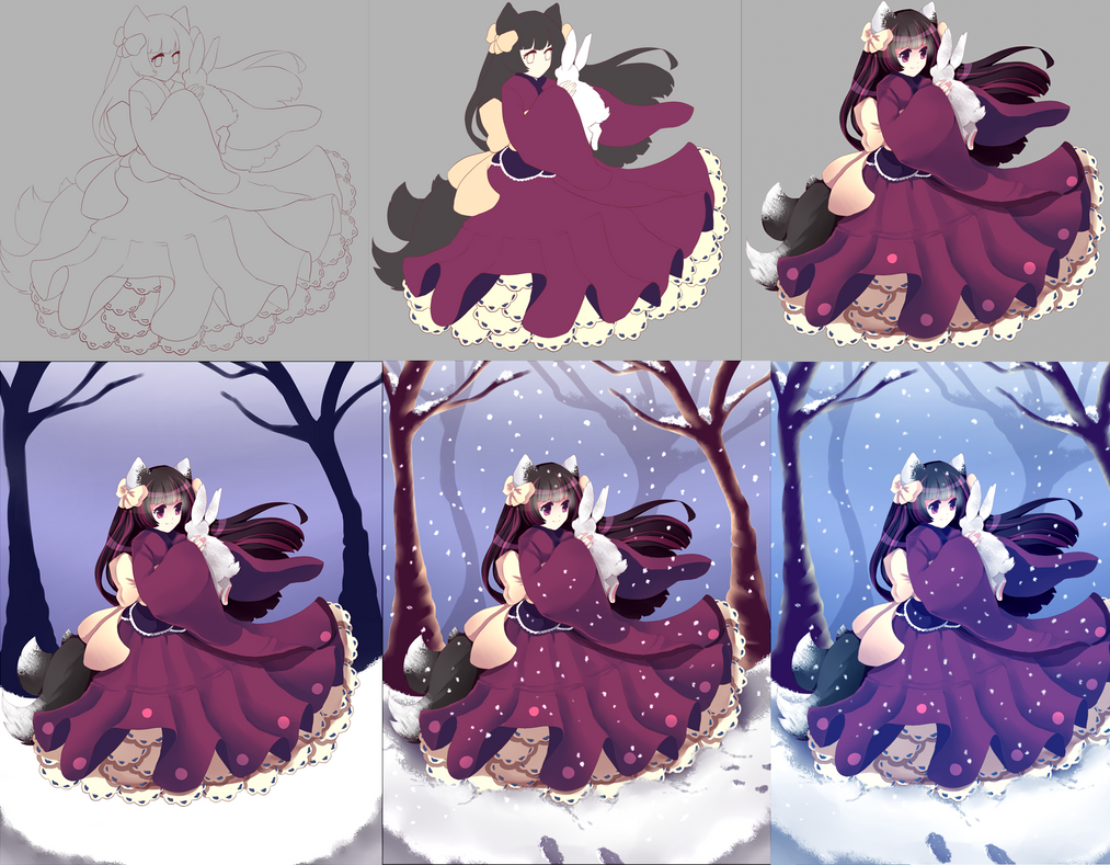 Miyuki Commission Process by Andreia-Chan