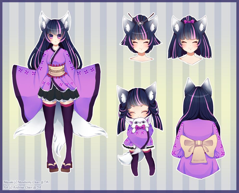 Miyuki Reference Sheet by Andreia-Chan