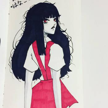 [Inktober2017] Hanako-san by unexplained-writer