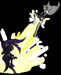 Nemesis Vs Light Bringer 1 by SergeXIII