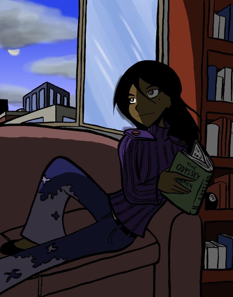 Iris Reading by SergeXIII