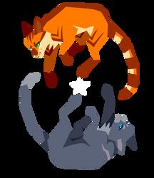 Fireheart and Bluestar by Tigerparadise