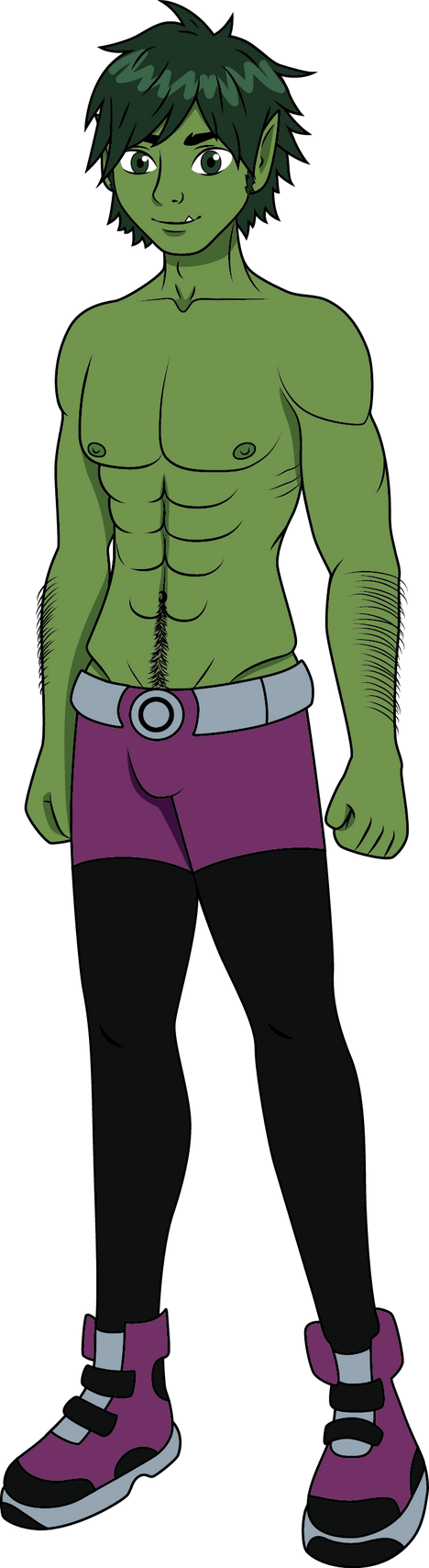 beast boy how tall