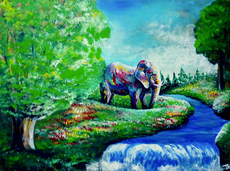 Elephant in the Forest by ArtbyjoelK