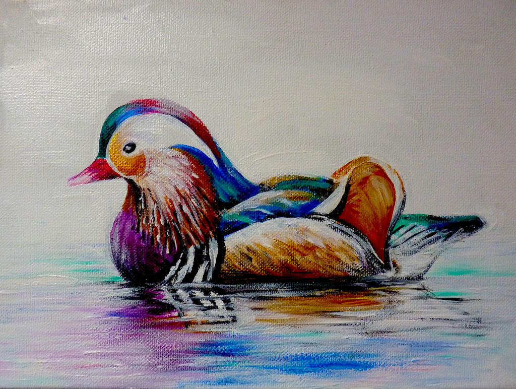 Mandarin Duck by ArtbyjoelK