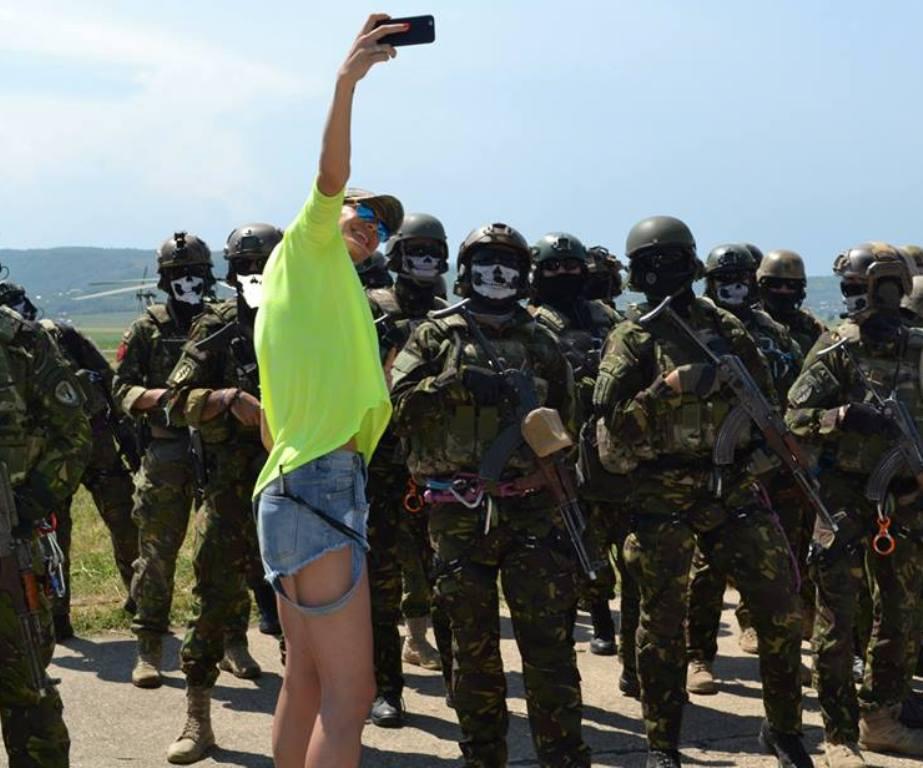 Military selfie