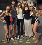 Tall girls meeting