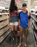 When 6ft2 sister 4 in boots  to pose with 5ft10 br