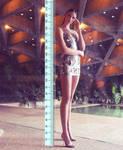 6ft7 Tristin in heels