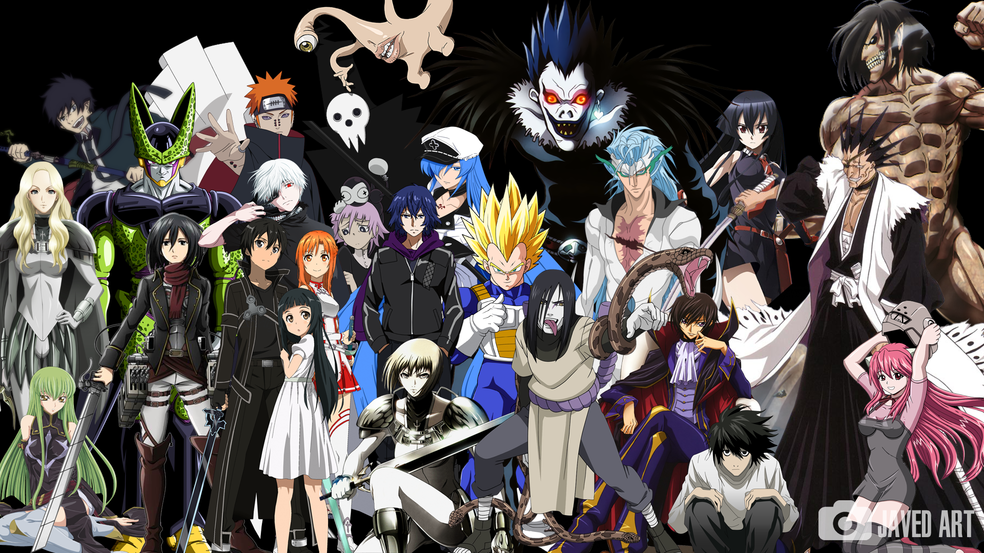 4 Pics 1 Anime Characters : A simple group of my favorite anime characters by