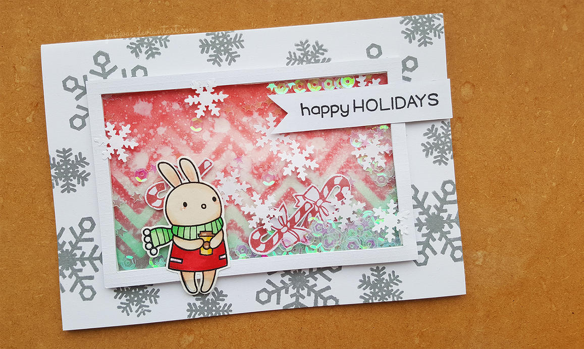 Let It Snow Christmas Shaker Card by yuiiwae