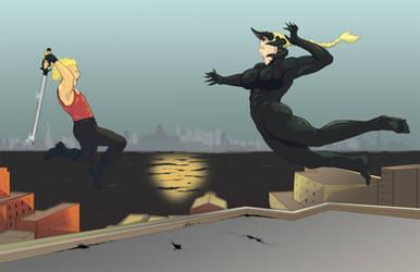 [Commission] Matt vs Ilsa - RolandGrey by Kallsu