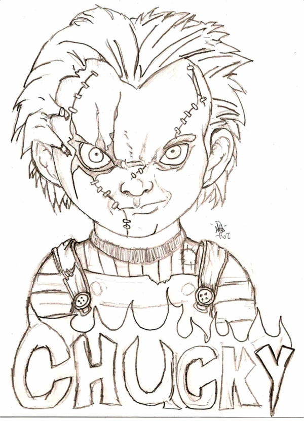 Chucky doll drawing
