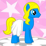 schtroumpfette version poney