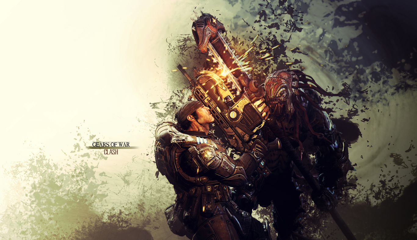 Gears of War Wallpaper - Clash by damienkerensky