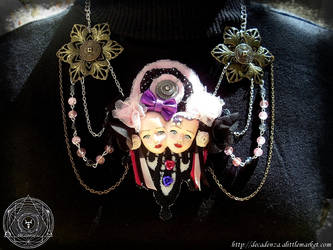 collier necklace fairy goth siamese twins UNIQUE by midnightbreath