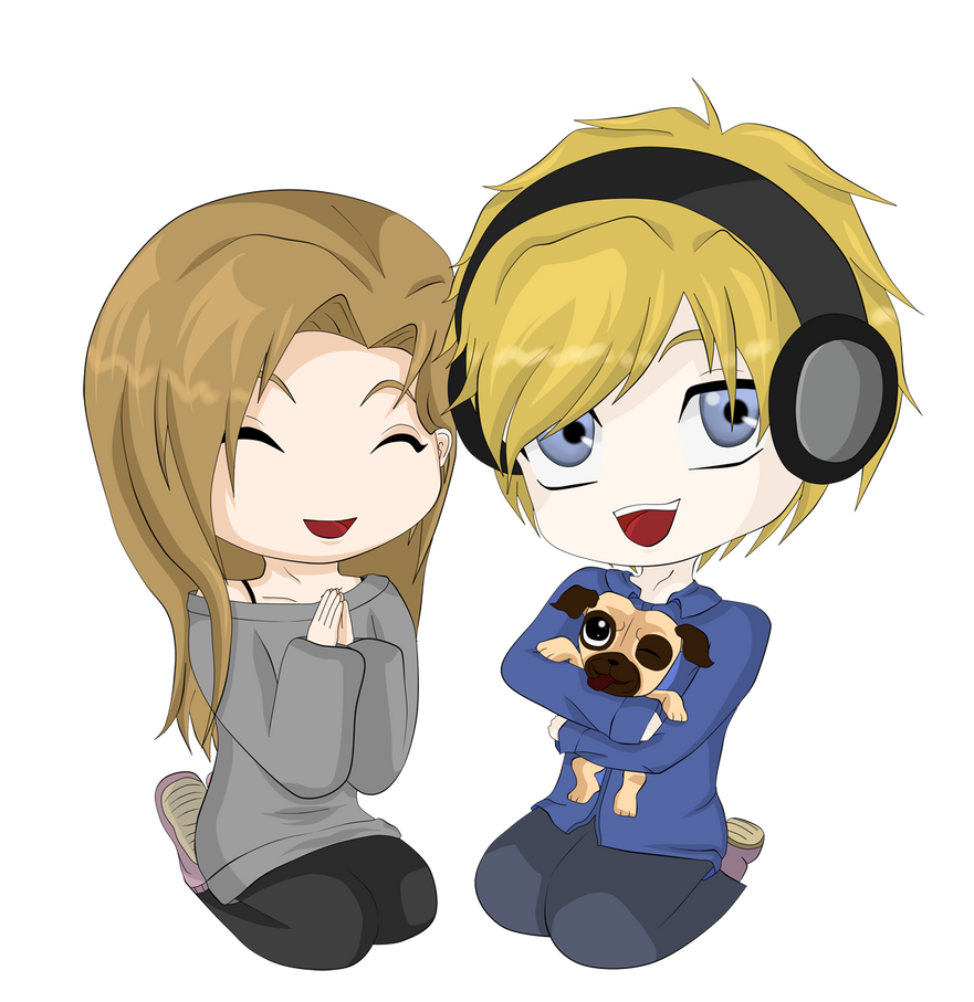 Chibi PewDiePie Marzia and Maya by M-G-K on DeviantArt