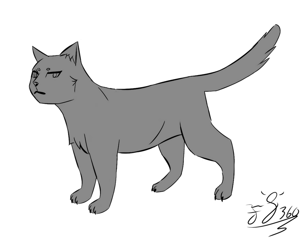 Simple Cat Lineart : Simple anime cat lineart link in description by