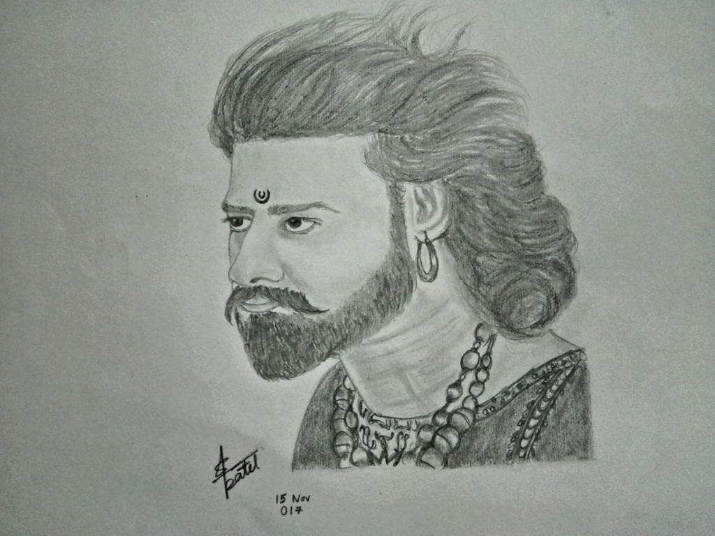 Bahubali prabhas pencil sketch by shishupalpatel on deviantart