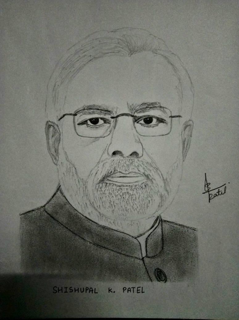 Narendra modi pencil sketch by shishupalpatel on deviantart