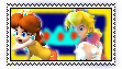 Princess Peach and Daisy stamp PLEASE COMMENT by mystic-kittyy
