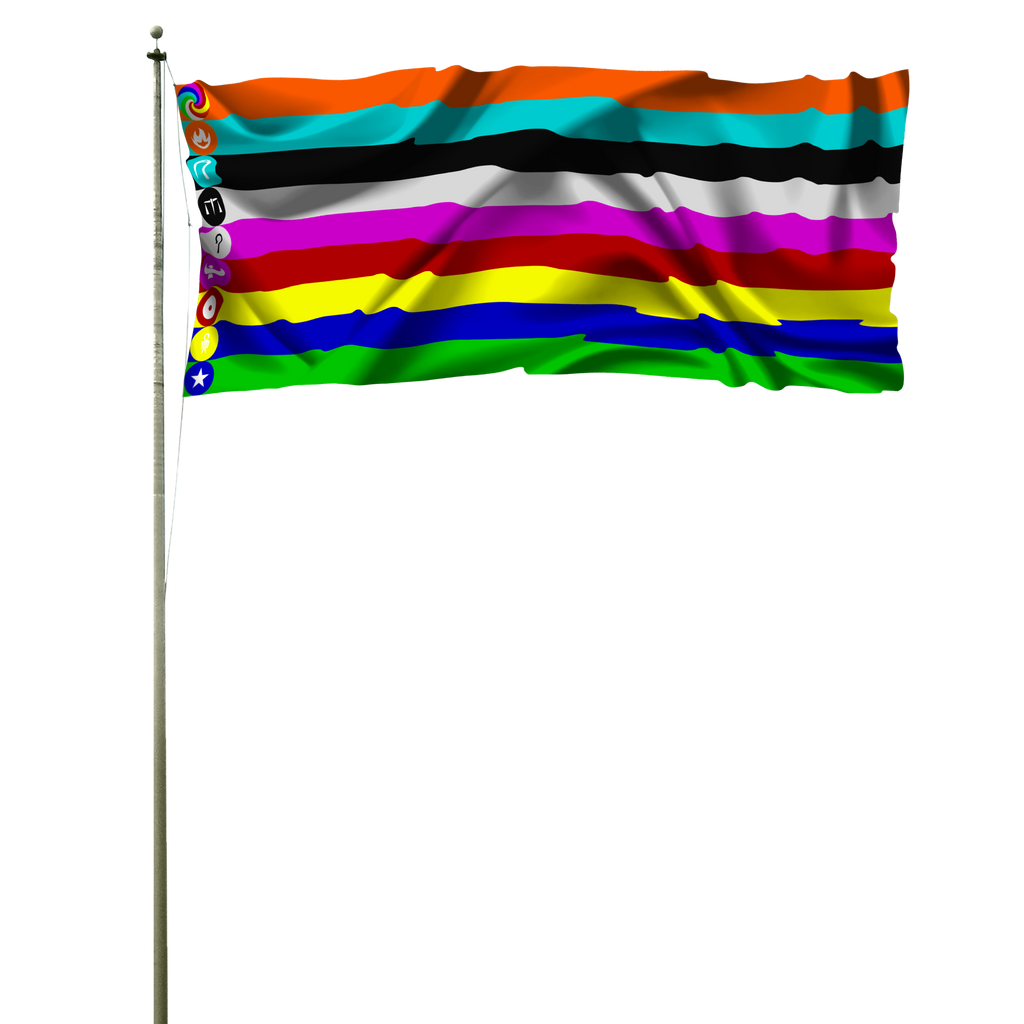 Sphere matchers flag pole by bobik19990118 on deviantart for 3 flag pole etiquette