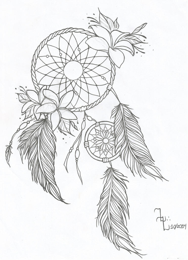 Dreamcatcher design by zalolopes on deviantart for Dreamcatcher tattoo template