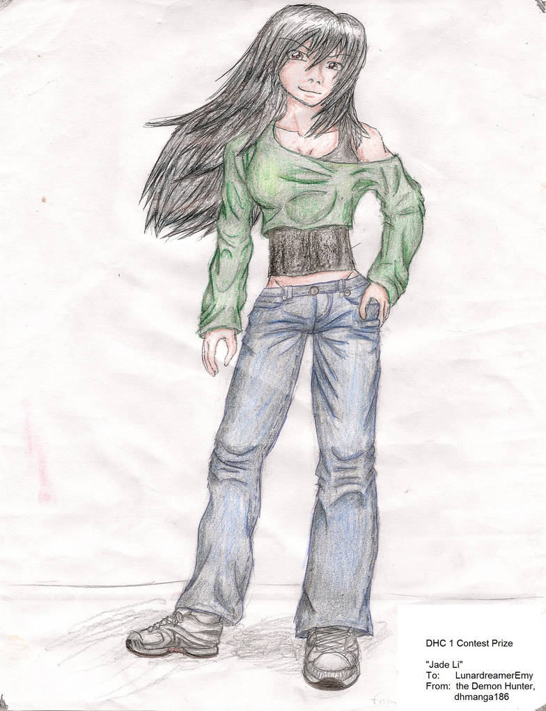 Experiment: Jade with Colored Pencils by dhmanga186