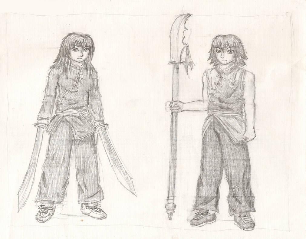 Jade + Jin Wushu Outfits by dhmanga