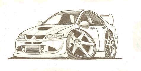 Lancer Evo Cartoon Car by JordanP23 on DeviantArt