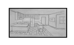 Line Art Kitchen by JordanP23
