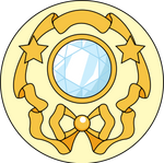 Moon Crystal Power Brooch - Opened