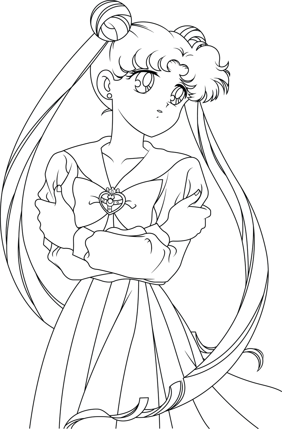 Line Drawing Moon : Sailor moon line art by sayurixsama on deviantart