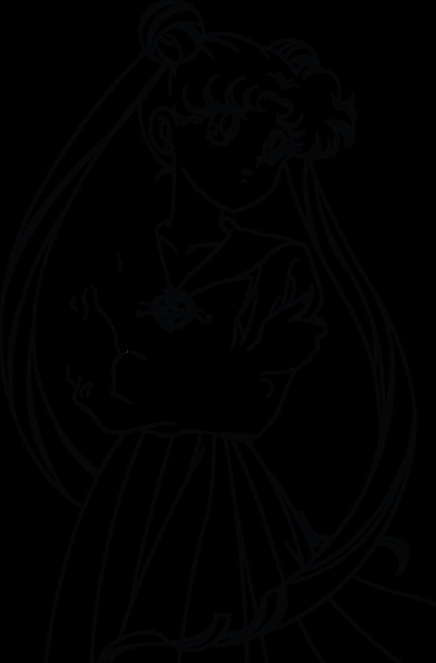 Line Drawing Moon : Sailor moon line art by sayurixsama on deviantart