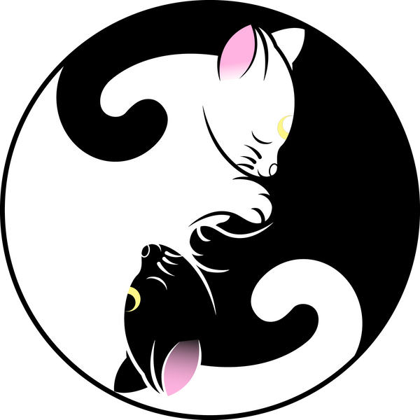 Luna And Artemis Yin Yang Symbol By Sayurixsama On Deviantart