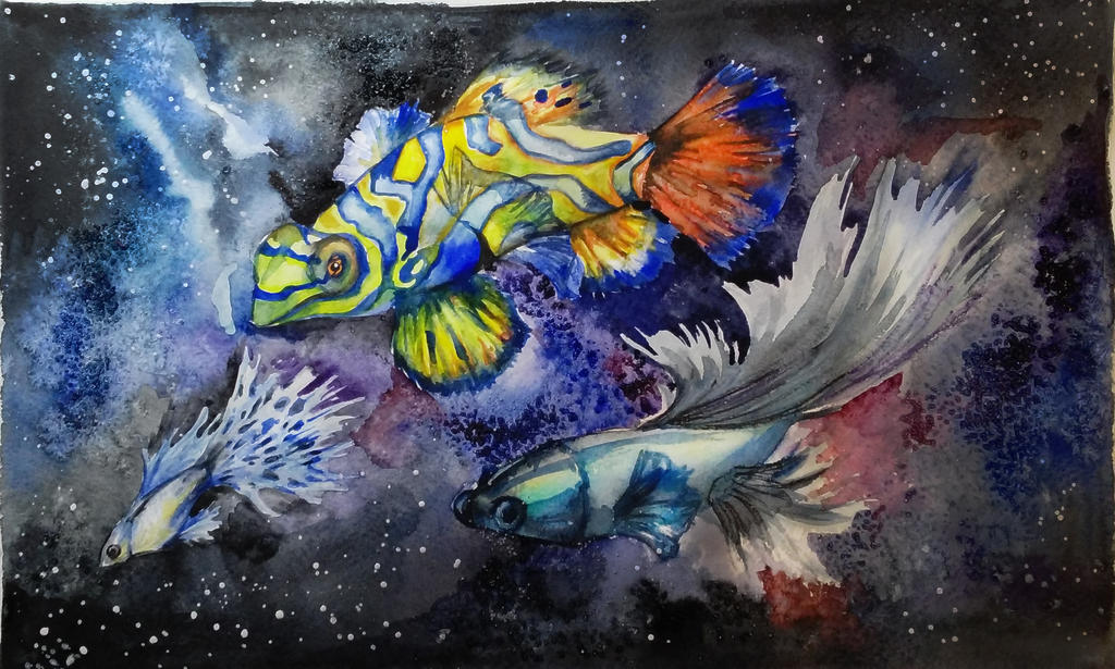 Space Fish by MomentsOfBloom