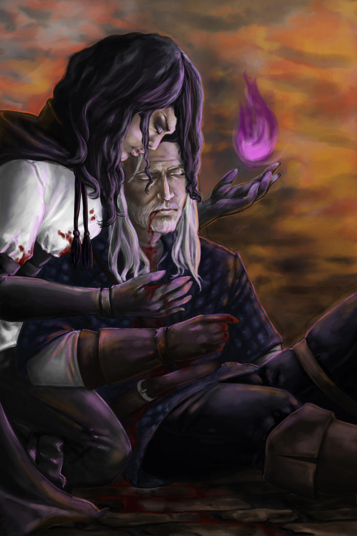 Geralt's and Yennefer's Death by MomentsOfBloom