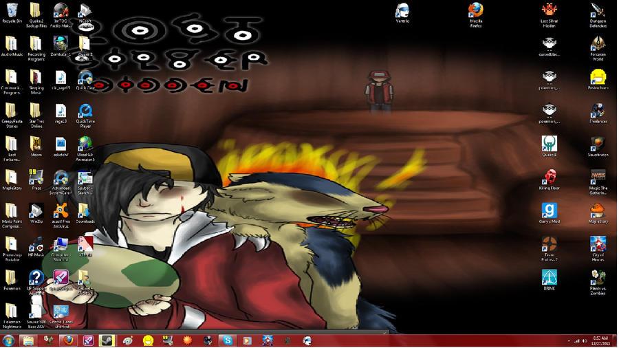 My Desktop in a nutshell by GlitchyGabriel