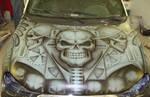 skull in grey